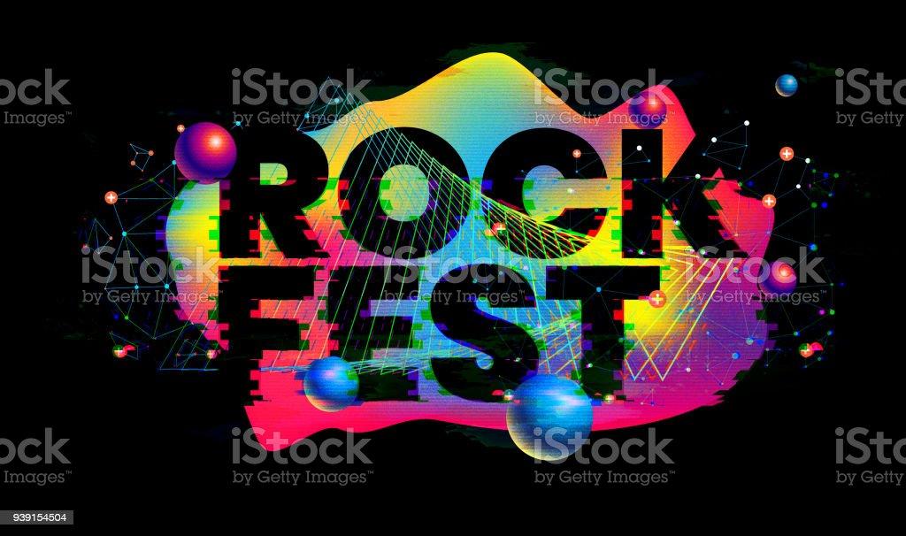 Rock fest glitch design