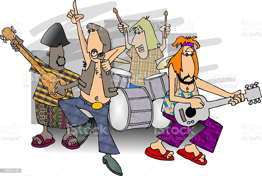 Rock & Roll Band royalty-free rock roll band stock vector art & more images of adult