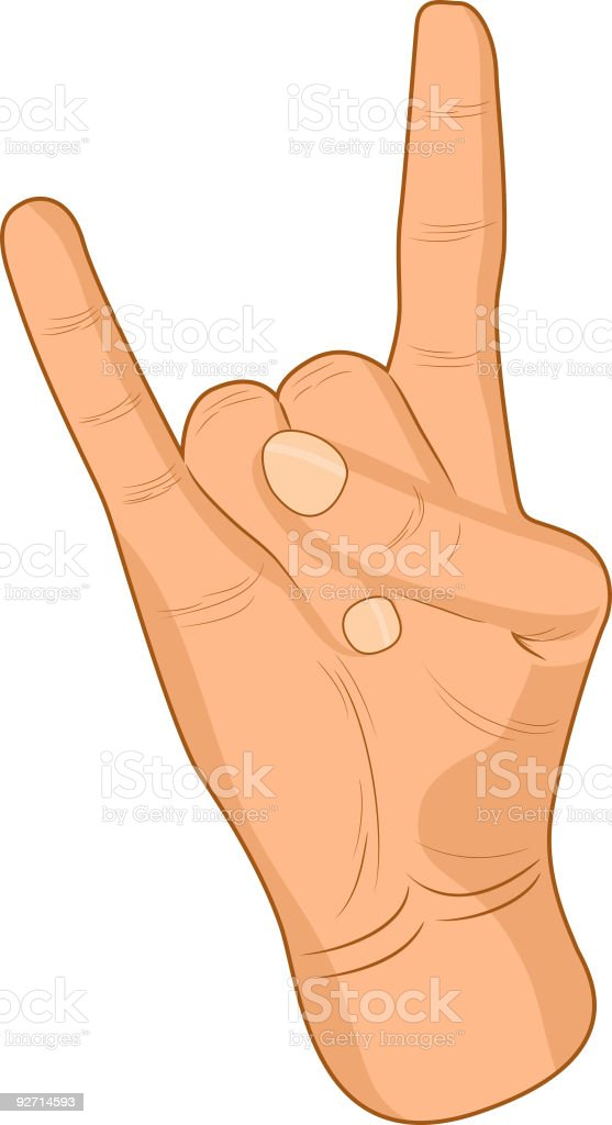 Rock sign. royalty-free stock vector art