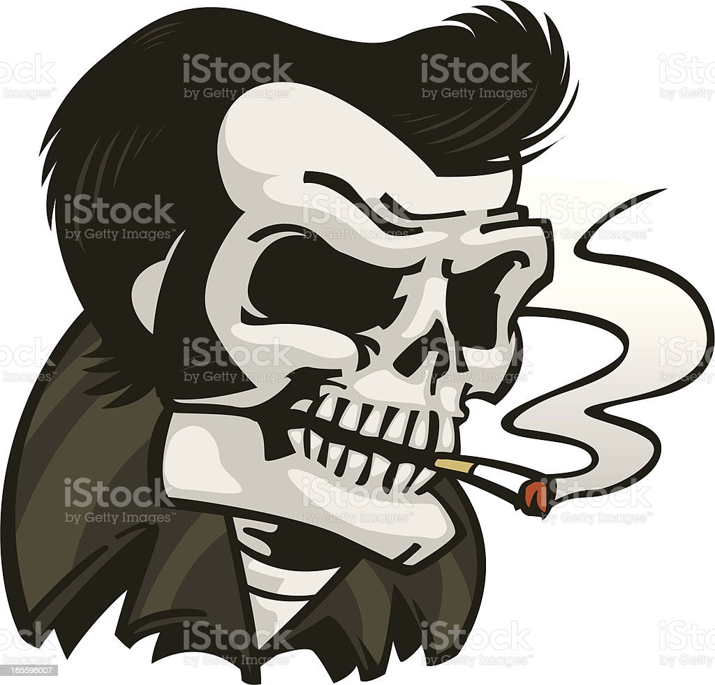 rock skull royalty-free rock skull stock vector art & more images of cartoon