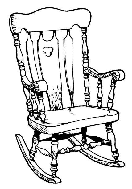 Rocking Chair Clip Art, Vector Images & Illustrations - iStock