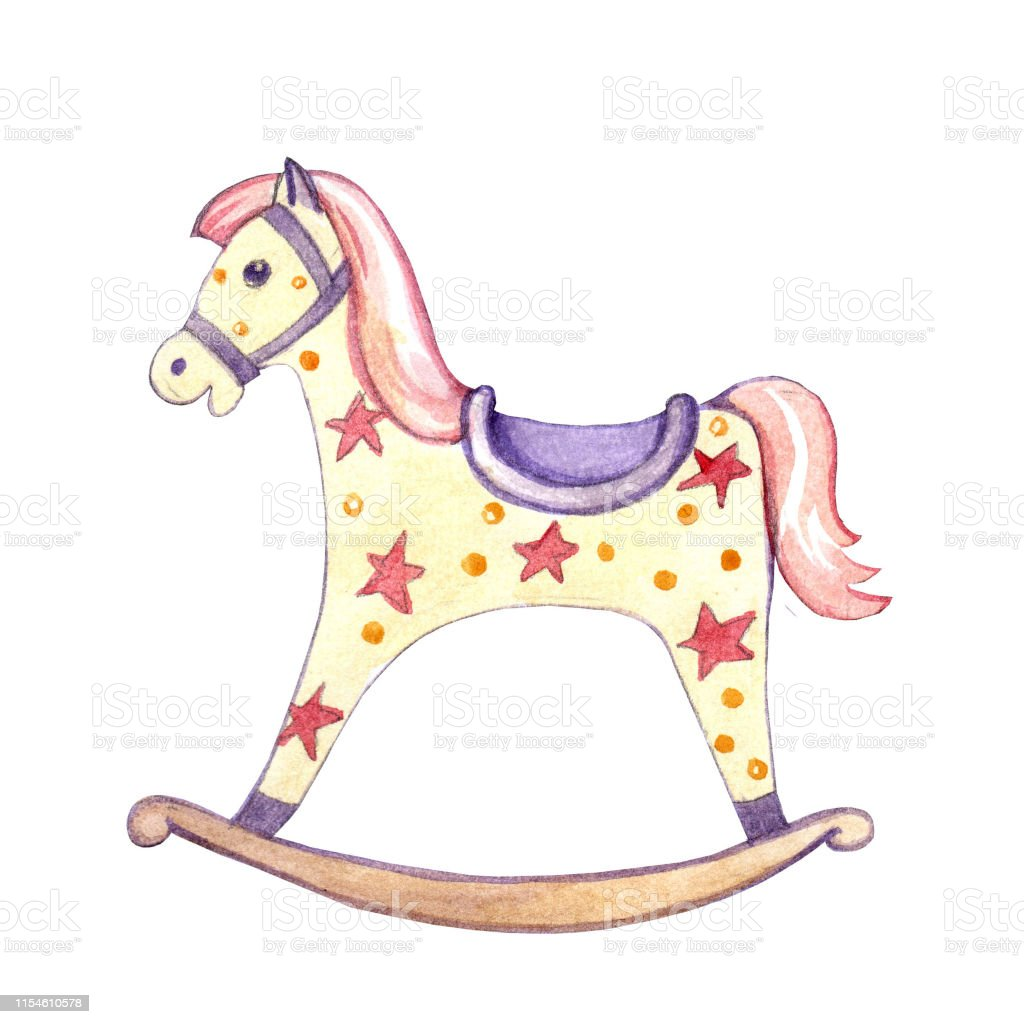 Rocking Horse Baby Toy Isolated On White Background Stock Illustration Download Image Now Istock