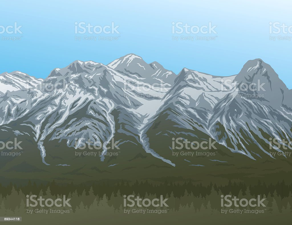 Rocky Mountains royalty-free stock vector art