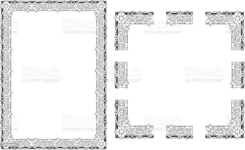 Rococo Style border frame royalty-free stock vector art