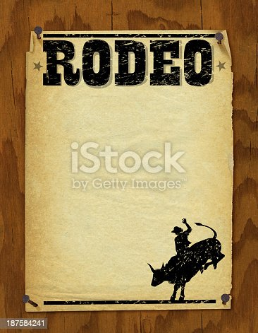 Rodeo Poster - Retro Background. Check out my