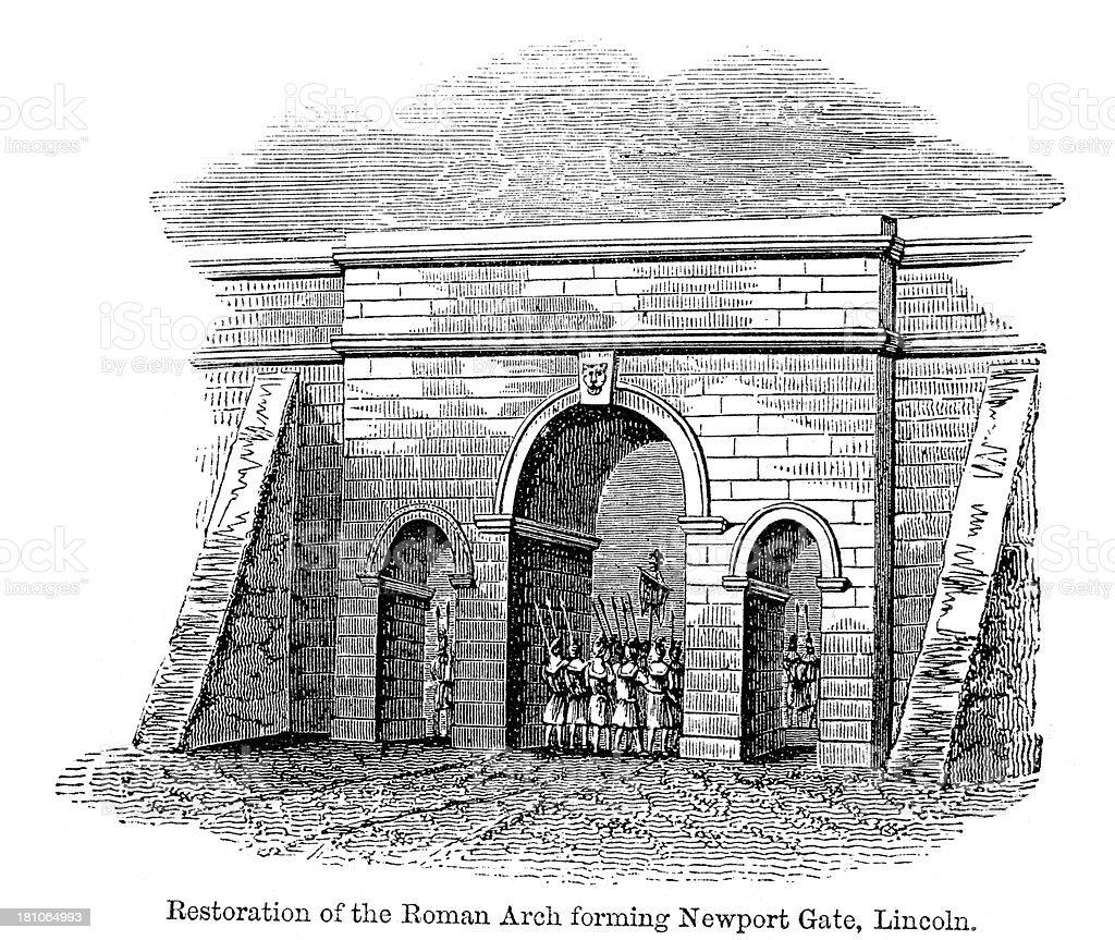 Roman Arch royalty-free stock vector art