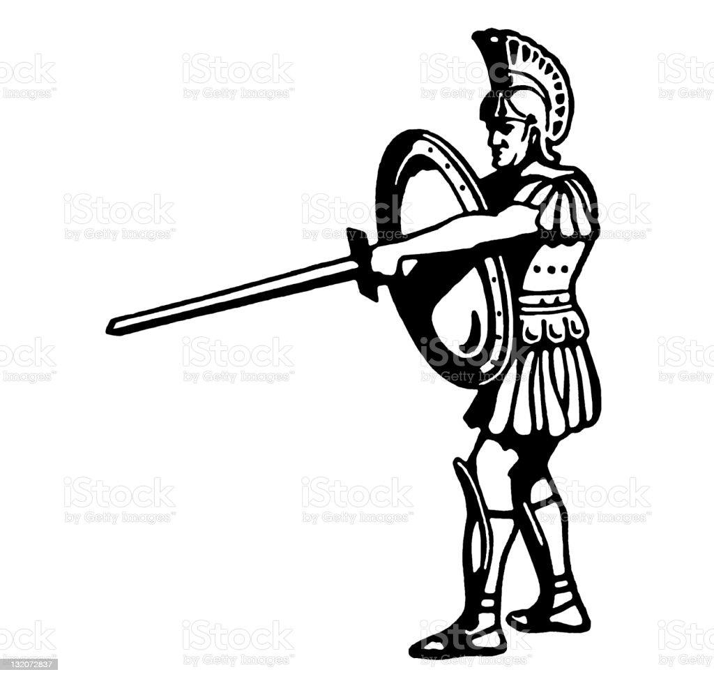 Roman Centurion royalty-free stock vector art