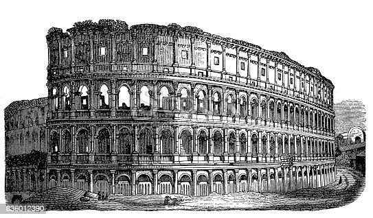 Illustration of a Roman Colosseum
