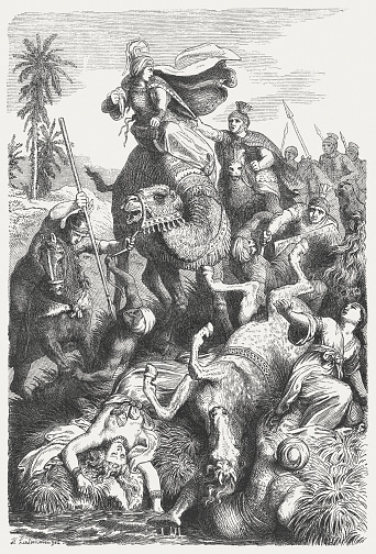 Roman Emperor Aurelian's campaign against Zenobia, 272 AD, published 1864