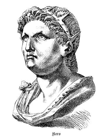 Roman emperor Nero head illustration