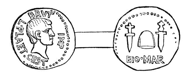 シーザーの死 を記念したローマ月のイデスデナリ コイン - アーカイブ ...