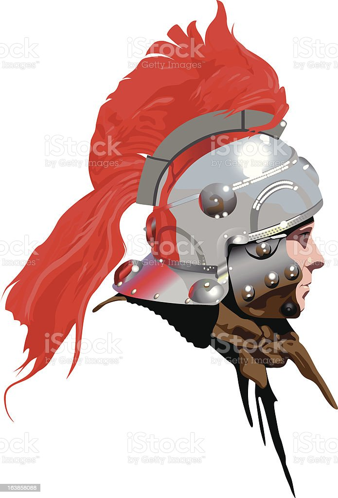 Roman Soldier (Centurion) with plumed helmet : Illustration : Istockphoto