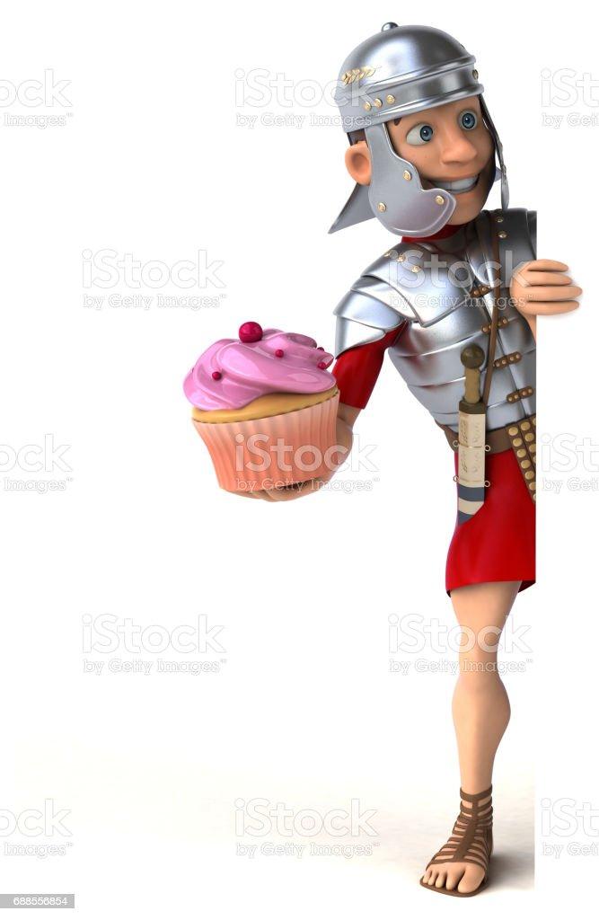 Roman soldier vector art illustration