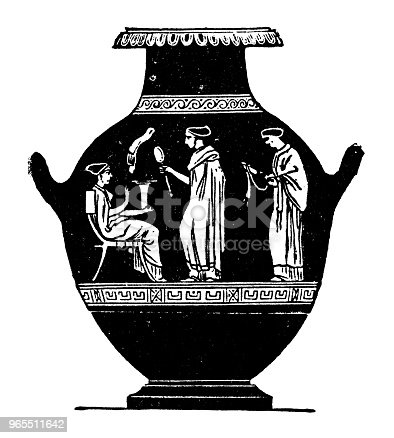 Roman Vase Stock Vector Art More Images Of 19th Century 965511642