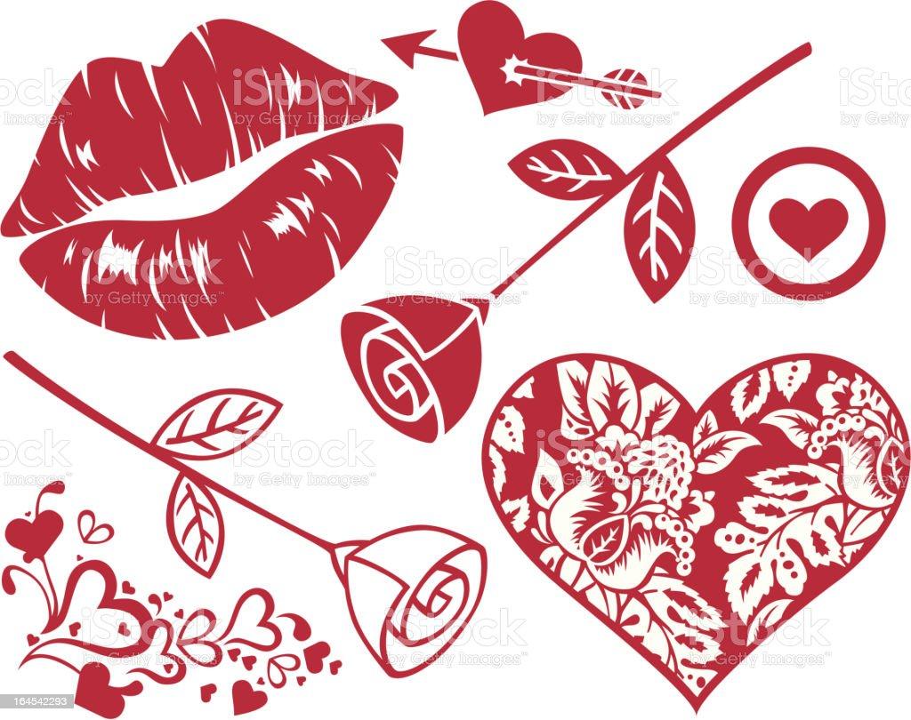 Romance Elements royalty-free stock vector art