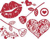 Romance design elements.