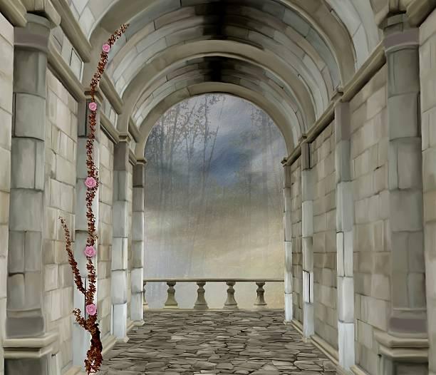 ilustrações de stock, clip art, desenhos animados e ícones de castelo romântico sala - ivy building
