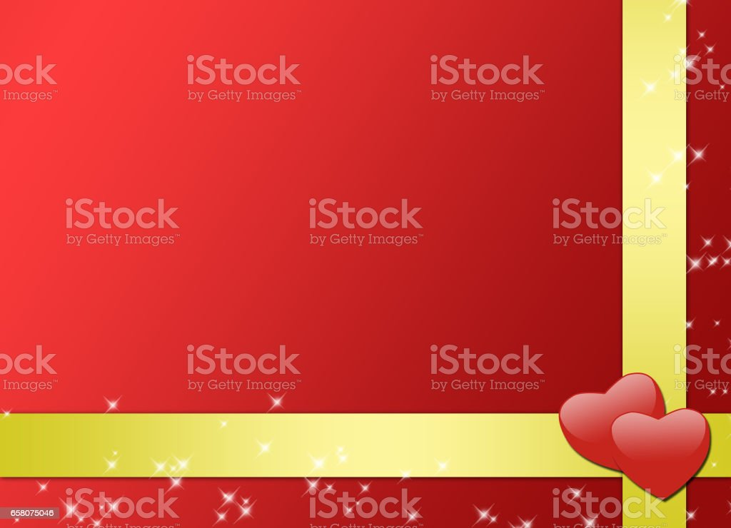 romantic red card with gold ribbons royalty-free romantic red card with gold ribbons stock vector art & more images of backgrounds