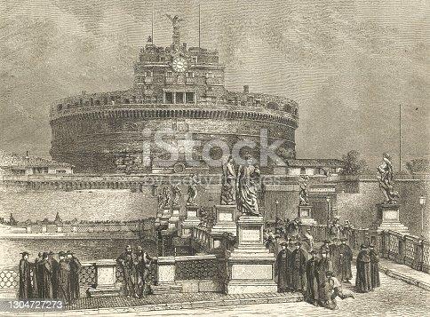 istock Rome, Castel Sant'Angelo 1304727273