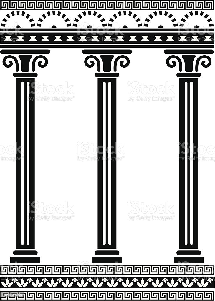 Rome Column - Slim vector art illustration