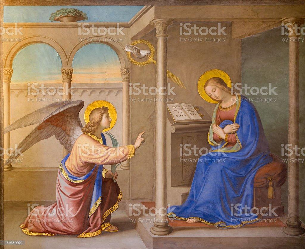 Rome: The Annunciation aire libre - ilustración de arte vectorial