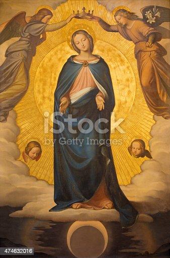 Rome - The Immaculate Conception paint by Phillip Veit (1830) in church Chiesa della Trinita dei Monti.