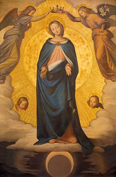 ilustraciones, imágenes clip art, dibujos animados e iconos de stock de rome-pintura de la inmaculada concepción - santa