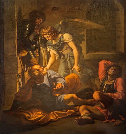 Rome - The Liberation Of Saint Peter painting