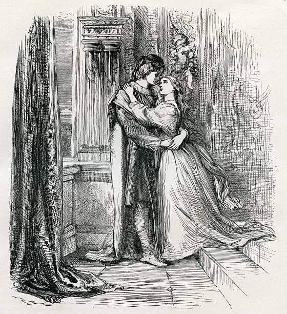romeo and juliet, true romance,  shakespeare - romeo and juliet stock illustrations, clip art, cartoons, & icons
