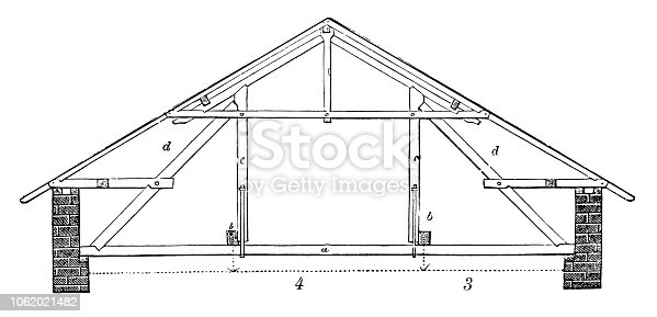 Roof truss with double suspension
