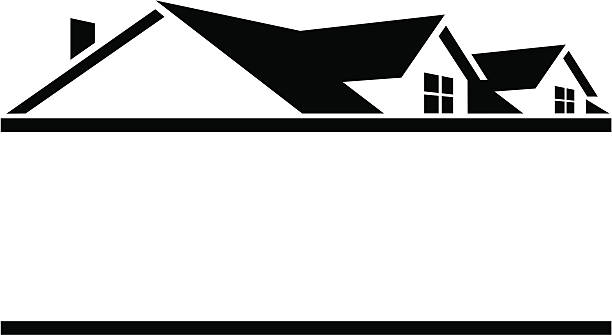 Roof House Black and white, House Roof s, angle, building png   PNGEgg