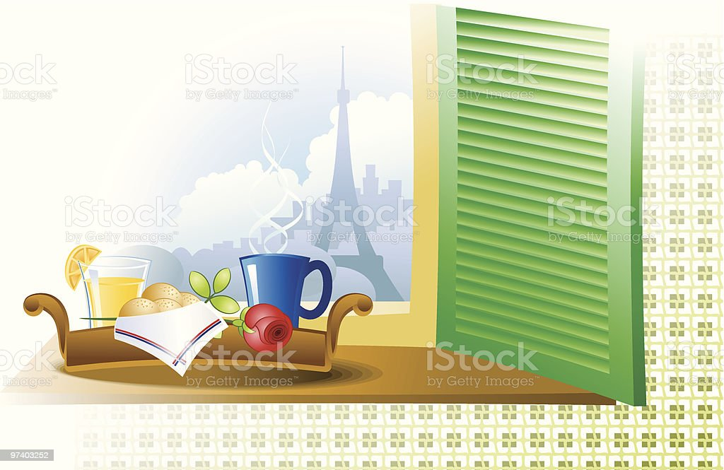 Room with a view royalty-free stock vector art