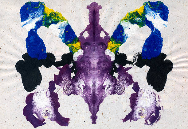 Rorschach Inkblot Test Rorschach Inkblot Test name of person stock illustrations