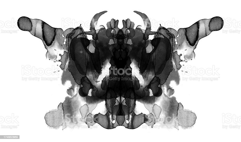 Rorschach Test Card  Abstract stock illustration