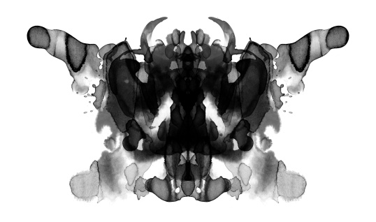 Rorschach Test Card Stock Illustration - Download Image Now