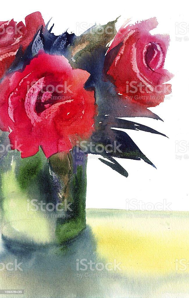 Roses flowers royalty-free stock vector art