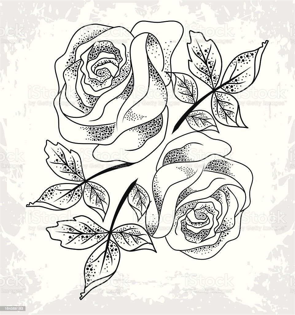 roses image royalty-free stock vector art