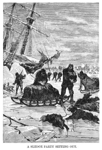 Ross's Expedition to the Arctic - sledge party setting out