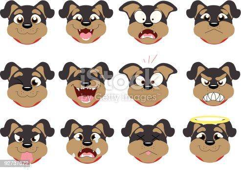 Rottweiler Emoticons