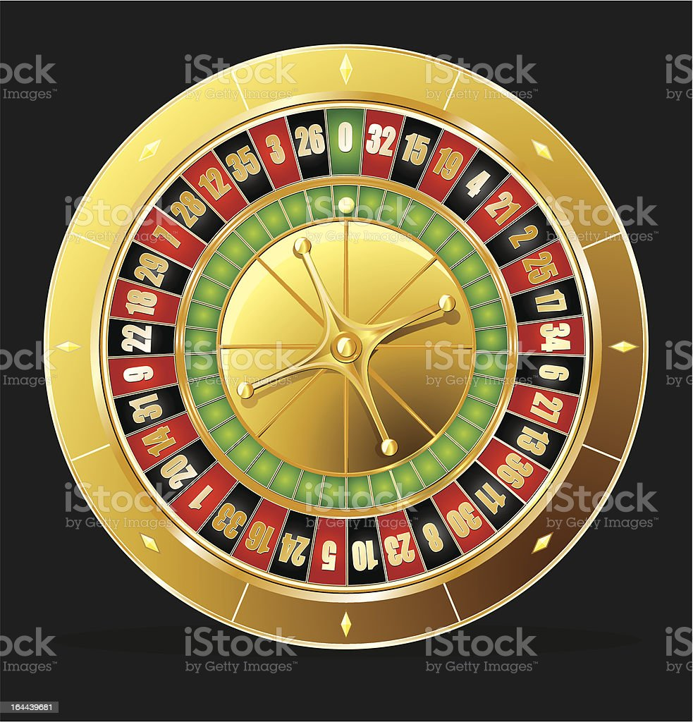 Roulette wheel royalty-free roulette wheel stock vector art & more images of black background