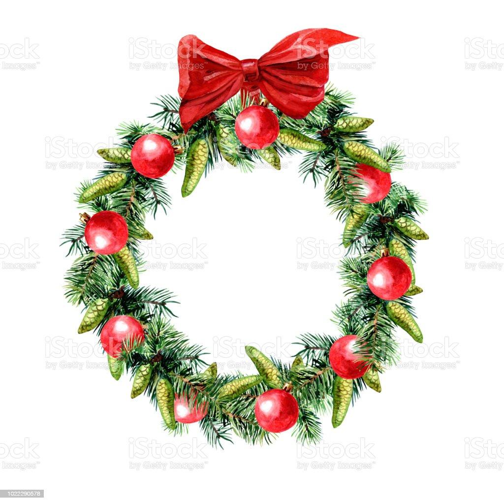 Um Weihnachten.Rund Um Weihnachten Rahmen Sie Ein Kranz Aus Tannenzweigen Und