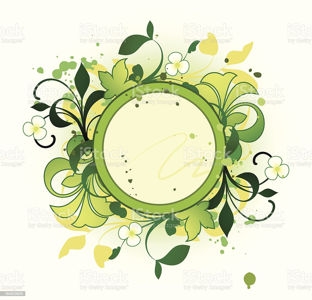 Round frame with floral elements royalty-free round frame with floral elements stock vector art & more images of abstract