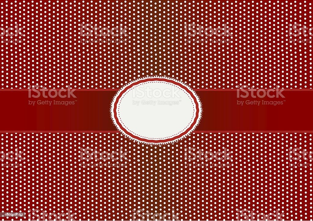 Round Label Pattern with A Red Background royalty-free stock vector art