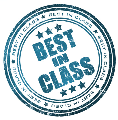 Round stamp with text: Best in Class