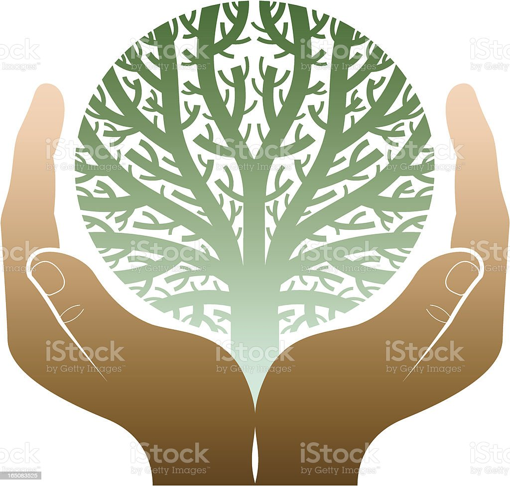 Round tree hands royalty-free round tree hands stock vector art & more images of autumn