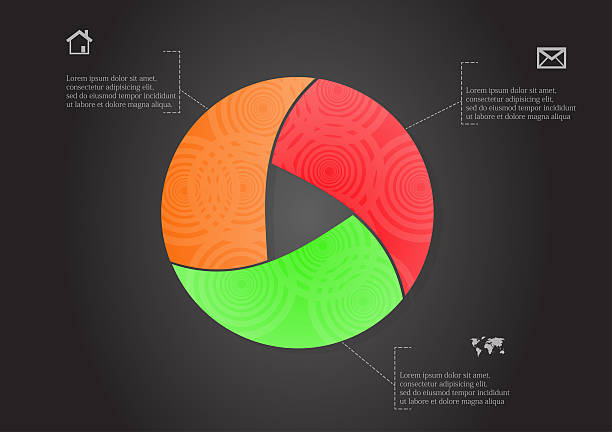 Rounded infographic with ornament vector art illustration