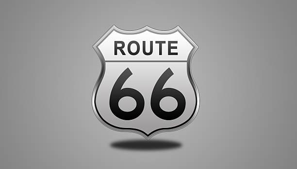 stockillustraties, clipart, cartoons en iconen met route 66 glossy road sign. - arizona highway signs