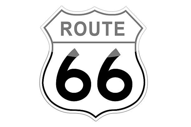 stockillustraties, clipart, cartoons en iconen met route 66 road sign. - arizona highway signs