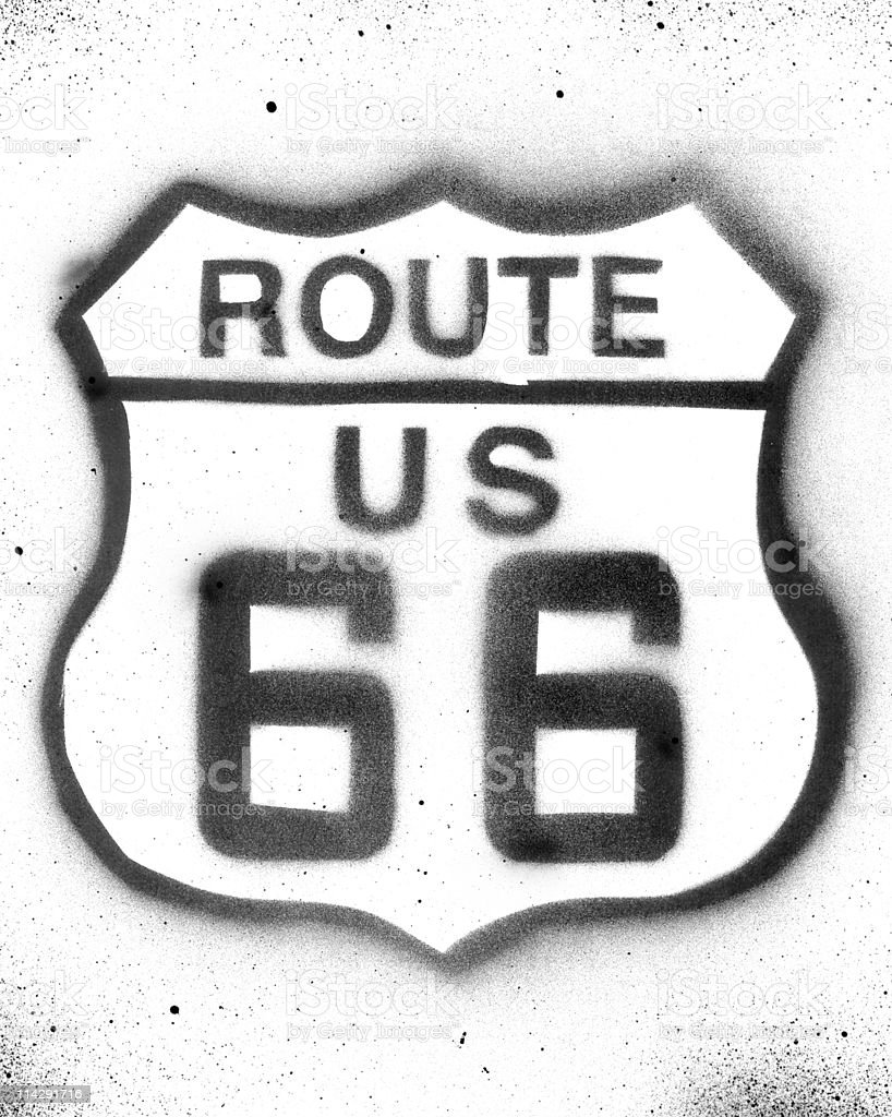 Route 66 stencil royalty-free route 66 stencil stock vector art & more images of california