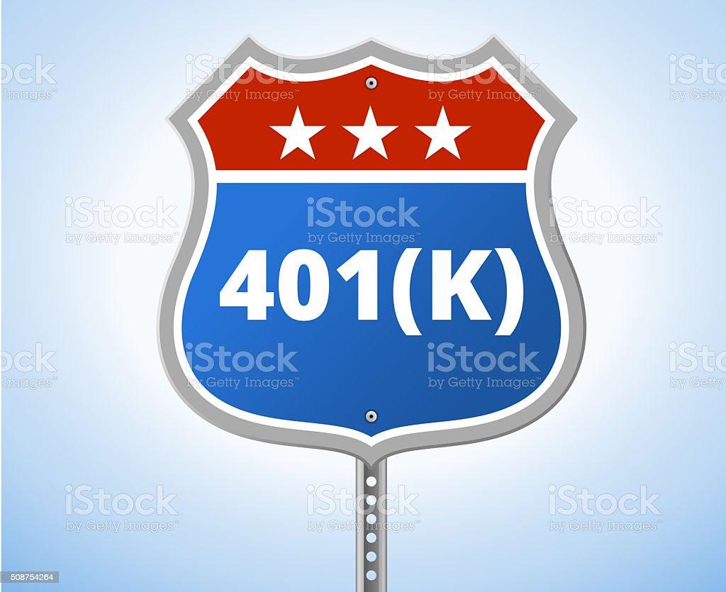 401K Route Sign vector art illustration